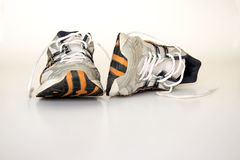 Old running shoes Royalty Free Stock Photo