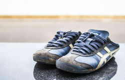 Old Running Shoes Royalty Free Stock Photography