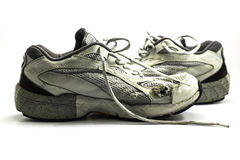 Old running shoes Stock Image