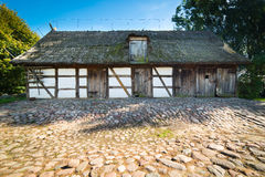 Old rural barn in Poland - XIXth century Royalty Free Stock Image