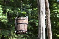 Old rural bucket well - RAW format Royalty Free Stock Photos