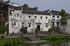 Old rural chinese houses stock images