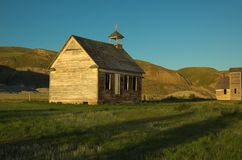 Old Rural Church. An old unused church located in the badlands of Alberta royalty free stock photo