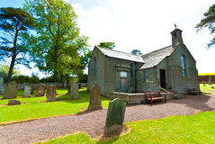 Old rural church. At a cemetery in Spott, Scotland, UK Stock Images