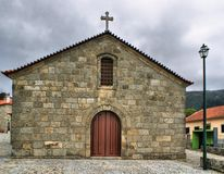 Old rural church of Linhares da Beira Stock Photo