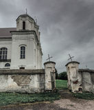 Old rural church. An old rural church, remote and small village Royalty Free Stock Photo