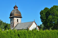 Old rural church in Scandinavia Stock Photo