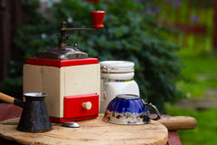 Old rural coffee grinder Royalty Free Stock Photo