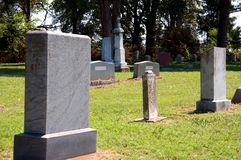 Old Rural Country Gravestones Royalty Free Stock Photography