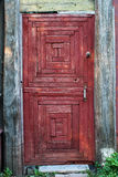 Old Rural Door of red color Royalty Free Stock Photo