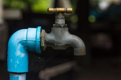 Countryside faucet stock photography