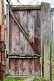 Old Rural Gate with shabby paint Stock Photos