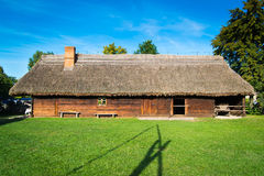 Old rural home in Poland. Old rural home in polish heritage park Stock Photos