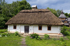 Old rural house. Ukraine. Outdoor museum of historic architecture. Old rural house royalty free stock photo