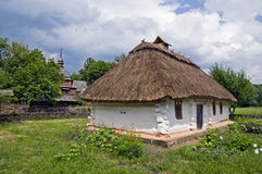 Old rural house. Ukraine. Outdoor museum of historic architecture. Old rural house royalty free stock image