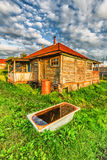 Old rural house. Old abandoned rural house in russian countryside Stock Image