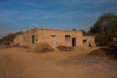 An old rural house. Old rural house punjab pakistan cow dung farming clay brick royalty free stock photos