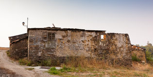 Old rural house, Spain. Old rural house building with stone, Spain royalty free stock images