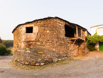 Old rural house, Spain. Old rural house building with stone, Spain royalty free stock image
