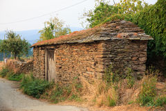 Old rural house, Spain. Old rural house building with stone, Spain royalty free stock photo