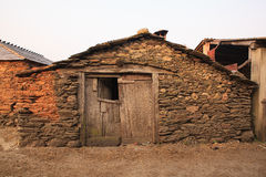 Old rural house, Spain. Old rural house building with stone, Spain stock image