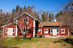 Old rural house in sweden. Royalty Free Stock Photography