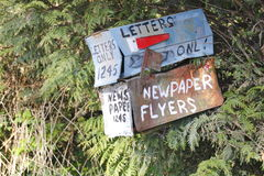 Old Rural Mailboxes Stock Images