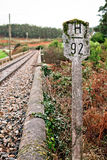 Old Rural Railroad at Northern Spain Stock Image