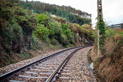 Old Rural Railroad at Northern Spain Stock Photography