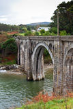Old Rural Railroad viaduct at Northern Spain. Royalty Free Stock Photo