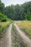 Old rural road in summertime. Royalty Free Stock Photo