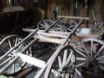 Old rural russian carts royalty free stock photo