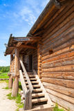 Old rural Russian house fragment with stairway Royalty Free Stock Photography