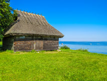 Old rural shed on the coast of the Baltic Sea Stock Image