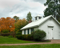 Old rural structure. Old rural building in autumn Stock Photo