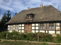 Old rural village house in Poland royalty free stock photo