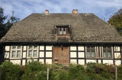 Old rural village house in Poland stock photography
