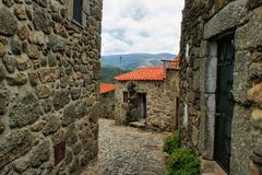 Old rural village of Linhares da Beira Stock Image