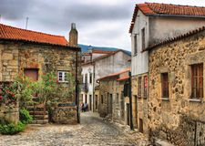 Old rural village of Linhares da Beira Stock Photos