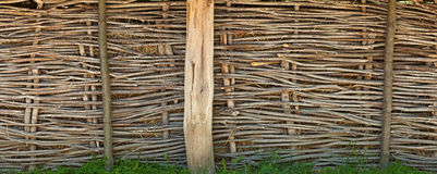 Old rural wicker fence Royalty Free Stock Photos