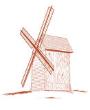 Old rural windmill. Stock Images