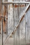 Old rural wooden door Stock Images