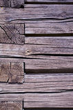 Old rural wooden house log wall Stock Image