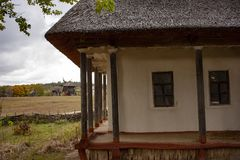 Free Old Rural Wooden House With Thatched Roof. Fall Season. Close-up Stock Images - 160527224