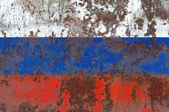 Old Russia grunge background flag.  Stock Photos