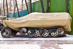 Old Russia military armored personnel carrier Stock Photography