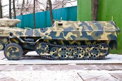 Old Russia military armored personnel carrier Royalty Free Stock Image