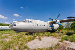 Old russian aircraft Antonov An-12 Royalty Free Stock Photo