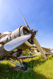 Old russian aircraft An-2 Stock Photos