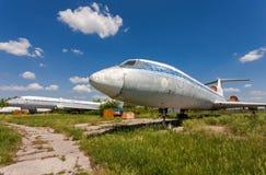 Old russian aircraft Tu-154 Royalty Free Stock Photo